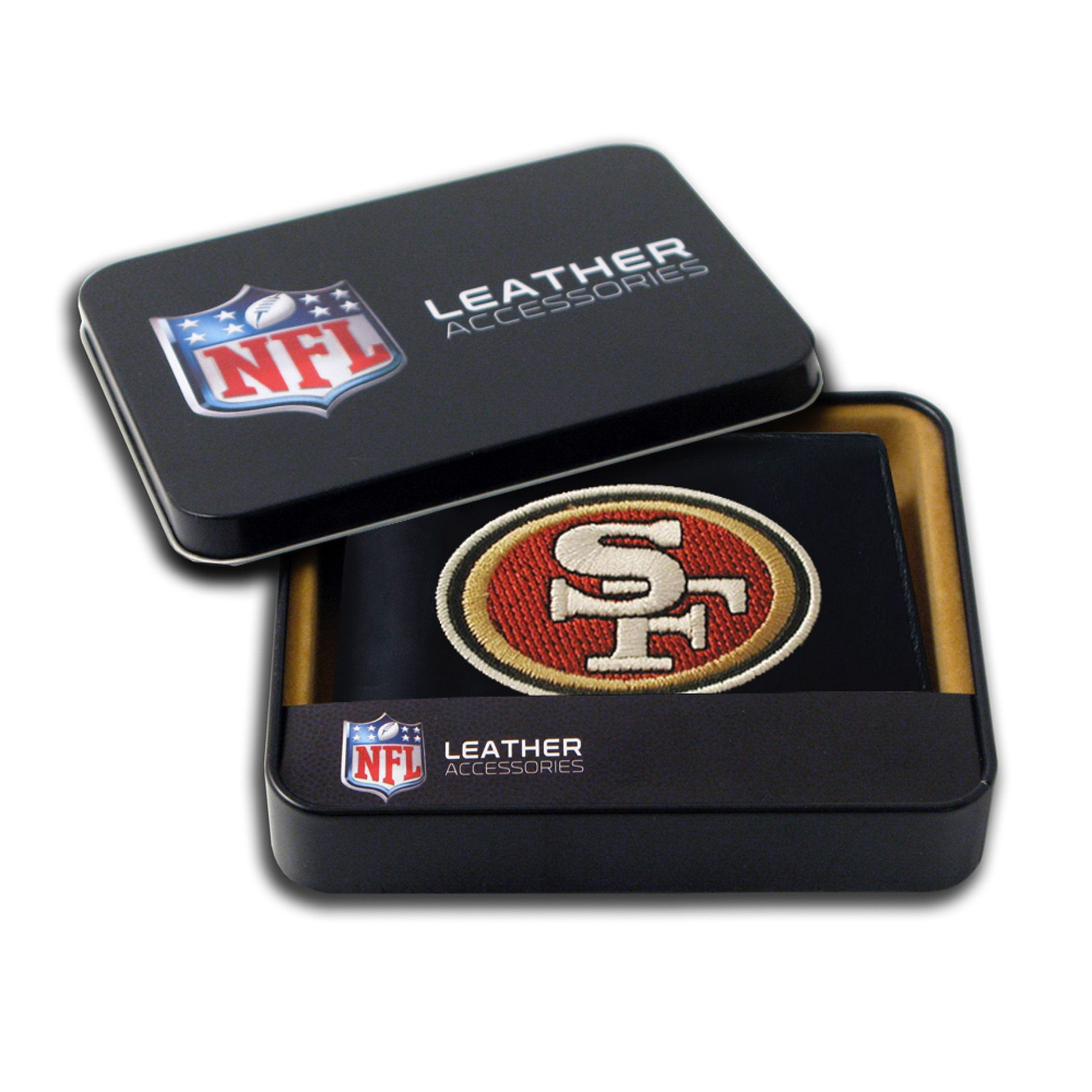 San Francisco 49ers Men's Black Leather