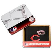 Rico Cincinnati Reds Men's Black Leather Bi-fold Wallet at Kmart.com