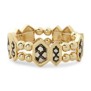 Kardashian Kollection Goldtone Stretch Bracelet - Snakeskin Print at Sears.com