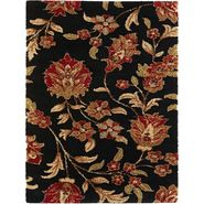 Tayse Rugs Fashion Shag 9553 Black 5 ft. 3 in. x 7 ft. 3 in. Transitional Area Rug at Sears.com