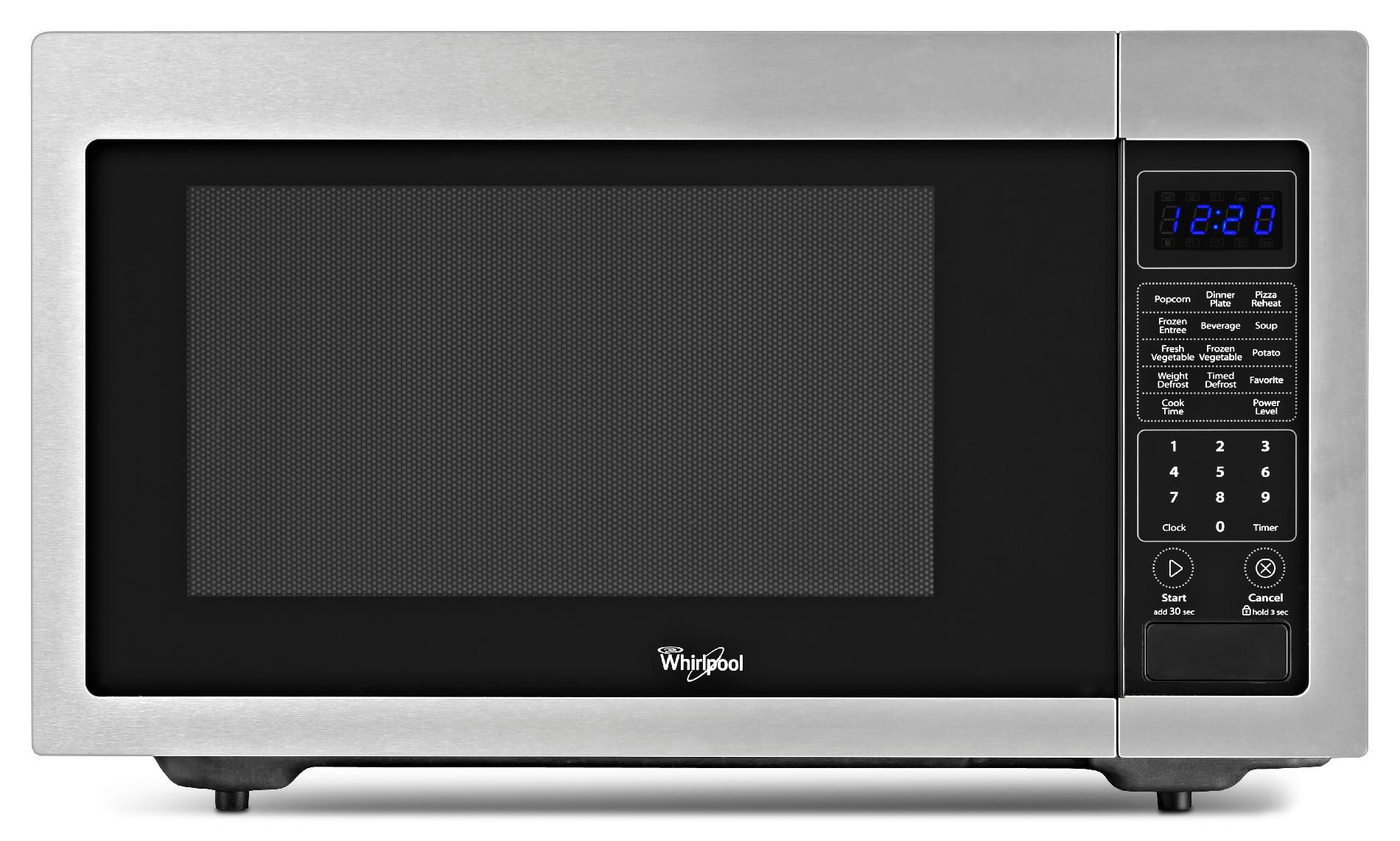Whirlpool WMC30516AS 1.6 cu. ft. 1,200W Countertop Microwave - Stainless Steel