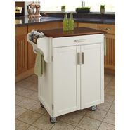 Home Styles Cuisine Cart White Finish with Oak Top at Kmart.com