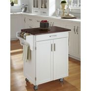 Home Styles Cuisine Cart White Finish with Cherry Top at Kmart.com