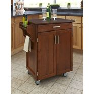 Home Styles Cuisine Cart Warm Oak Finish with Cherry Top at Kmart.com