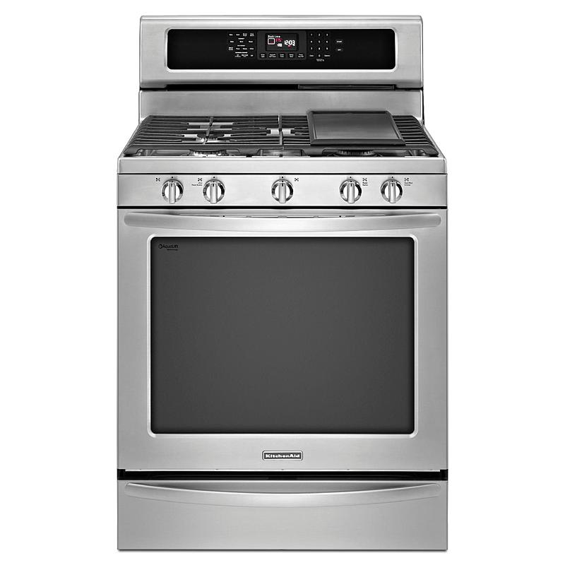 KitchenAid 5.8 cu. ft. Freestanding Gas Range w/ Even-Heat™ Technology - Stainless Steel