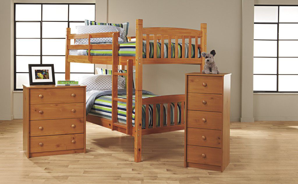 Bunk Bed Bedroom Collection - Pine