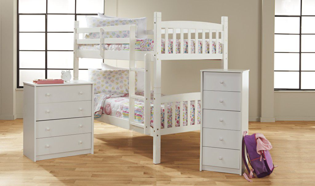 Bunk Bed Bedroom Collection - White