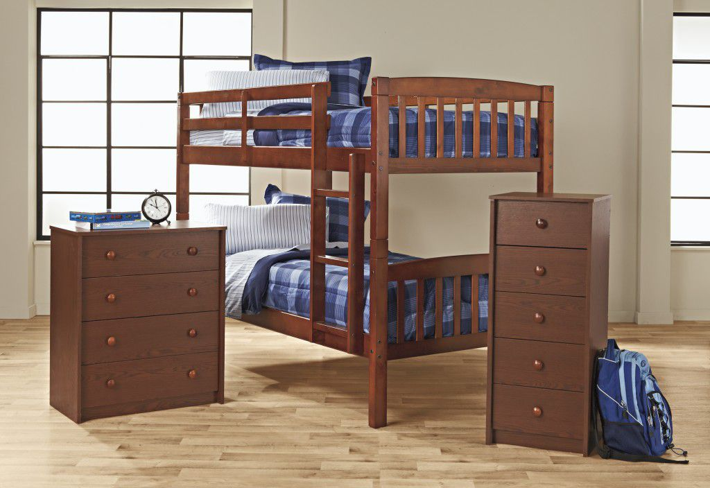 Bunk Bed Bedroom Collection - Walnut