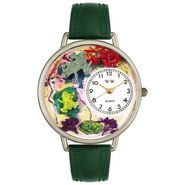 Whimsical Watches Frogs Hunter Green Leather And Silvertone Watch #U0140001 at Kmart.com