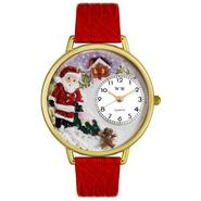 Whimsical Watches Christmas Santa Claus Red Leather And Goldtone Watch #G1220009 at Sears.com