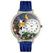 Whimsical Watches Cats Night Out Royal Blue Leather And Silvertone Watch #U0120009 at Sears.com