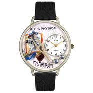 Whimsical Watches Physical Therapist Black Skin Leather And Silvertone Watch #U0620022 at Kmart.com