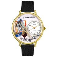Whimsical Watches Physical Therapist Black Skin Leather And Goldtone Watch #G0620022 at Kmart.com
