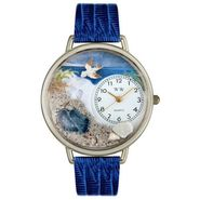 Whimsical Watches Footprints Royal Blue Leather And Silvertone Watch #U0710013 at Sears.com