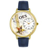 Whimsical Watches Order of the Eastern Star Navy Blue Leather And Goldtone Watch #G0710010 at Sears.com