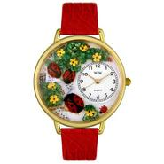 Whimsical Watches Ladybugs Red Leather And Goldtone Watch #G1210004 at Sears.com