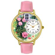 Whimsical Watches Roses Pink Leather And Goldtone Watch #G1210005 at Sears.com