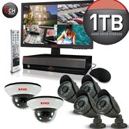 "Revo Security Surveillance System with 8 Channel 1TB DVR4, 18.5"" Monitor and (6)600TVL 33' Nightvision Cameras at Kmart.com"