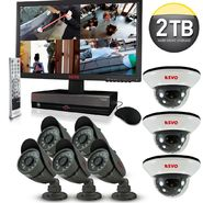 "Revo Security Surveillance System with 16 Channel 2TB DVR4, 21.5"" Monitor and (8)600TVL 33' Nightvision Cameras at Kmart.com"