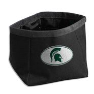 Dog Zone NCAA Pet Travel Bowl-Round-Large-Dark Green-Michigan State U. at Kmart.com