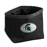 Dog Zone NCAA Pet Travel Bowl-Round-Small-Dark Green-Michigan State U. at Kmart.com