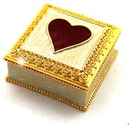 Objet d'art 'Jaime ma Mere' Heart Trinket Box at Sears.com