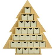 "Beyond The Page Mdf Small Tree With Drawers Advent Calendar-15.25""X16""X2"" (1.5""X1.5""X1.75"" Drawers) at Kmart.com"