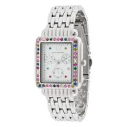 Sofia by Sofia Vergara Ladies Crystal Accent White Dial with Silver Tone Bracelet Band Watch at Kmart.com