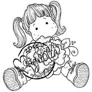 Sweet Crazy Love Cling Stamp-Tilda With Peony Tails at Kmart.com