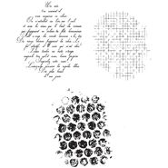 Stamping Bella Unmounted Rubber Stamp-Mini Bubble Wrap/Mesh/French Script Set at Kmart.com