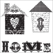 "I Cling Stamps 5""X5"" Sheet-Bird Houses at Kmart.com"