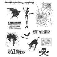 Tim Holtz Large Cling Rubber Stamp Set-Mini Halloween at Kmart.com