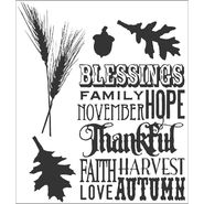 Tim Holtz Cling Rubber Stamp Set-Thankful Silhouettes at Kmart.com