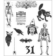 Tim Holtz Cling Rubber Stamp Set-Mini Halloween 2 at Kmart.com