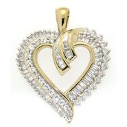 Gold Over Brass 1.00cttw Heart Pendant at Kmart.com