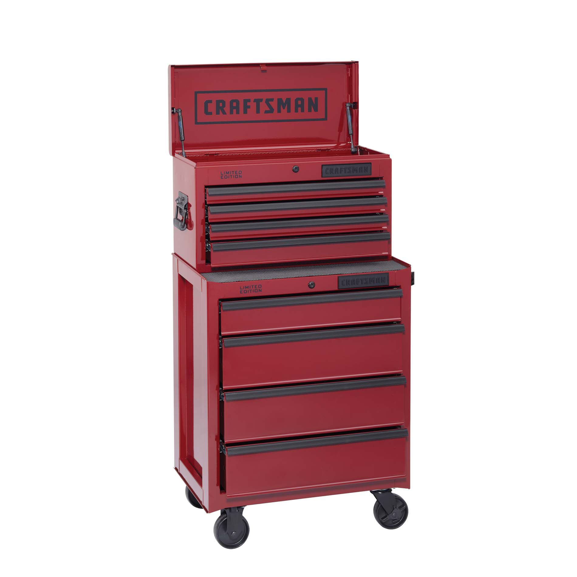 -Craftsman 8-Drawer Ball-Bearing Combo - Burgundy (Limited Edition)