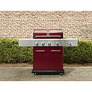 Kenmore 4-Burner LP Red Gas Grill w/ Searing Burner & Side Burner at Kenmore.com