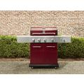 4-Burner LP Red Gas Grill w/ Searing Burner & Side Burner