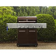 Kenmore 4-Burner LP Mocha Gas Grill w/ Searing Burner & Side Burner at Kmart.com