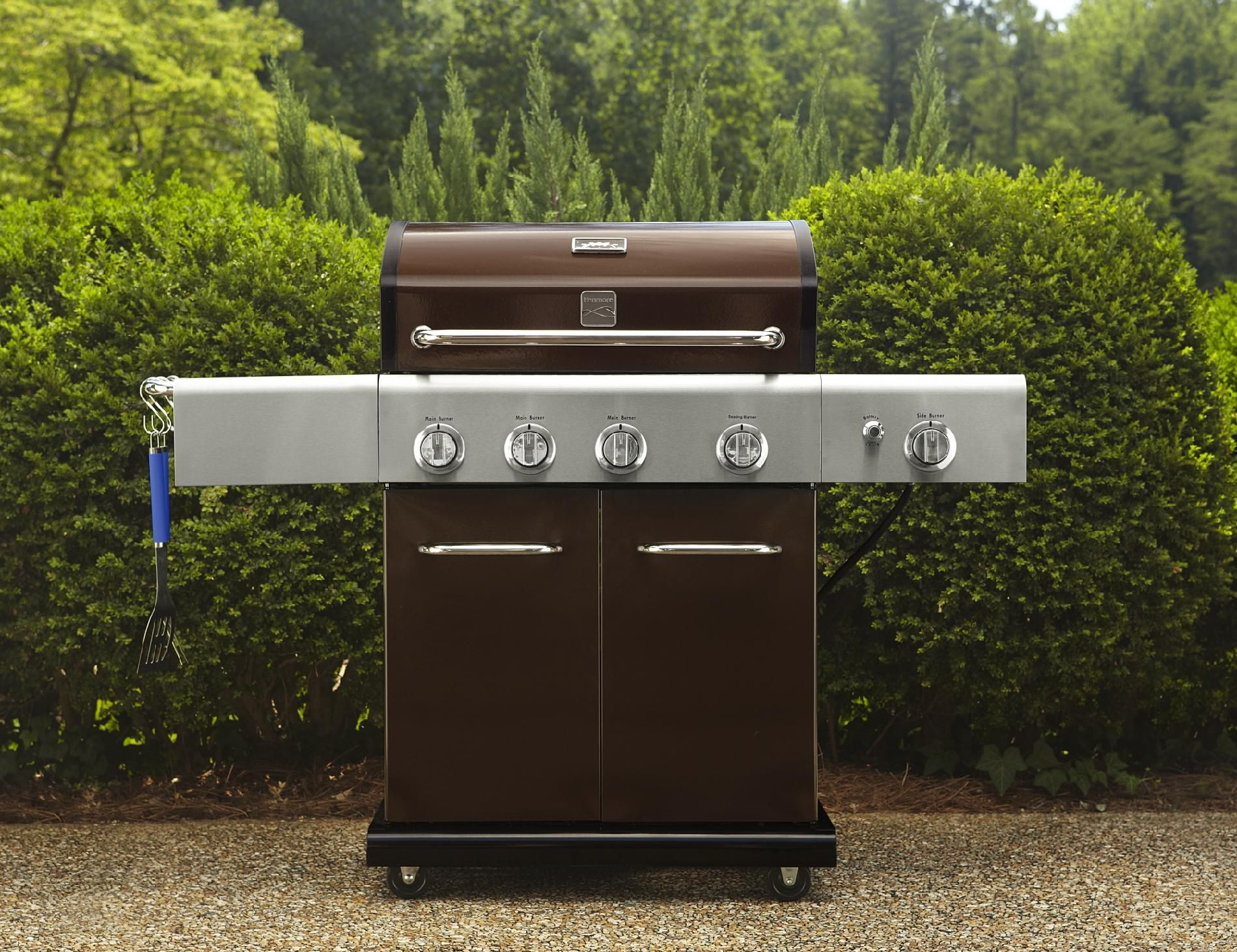 4-Burner-LP-Mocha-Gas-Grill-w-Searing-Burner-Side-Burner