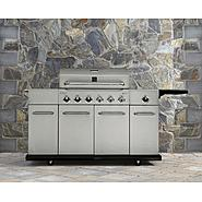 Kenmore 6 Burner Stainless Steel Front Gas Grill with Storage, Cover, & Accessories Bundle at Sears.com