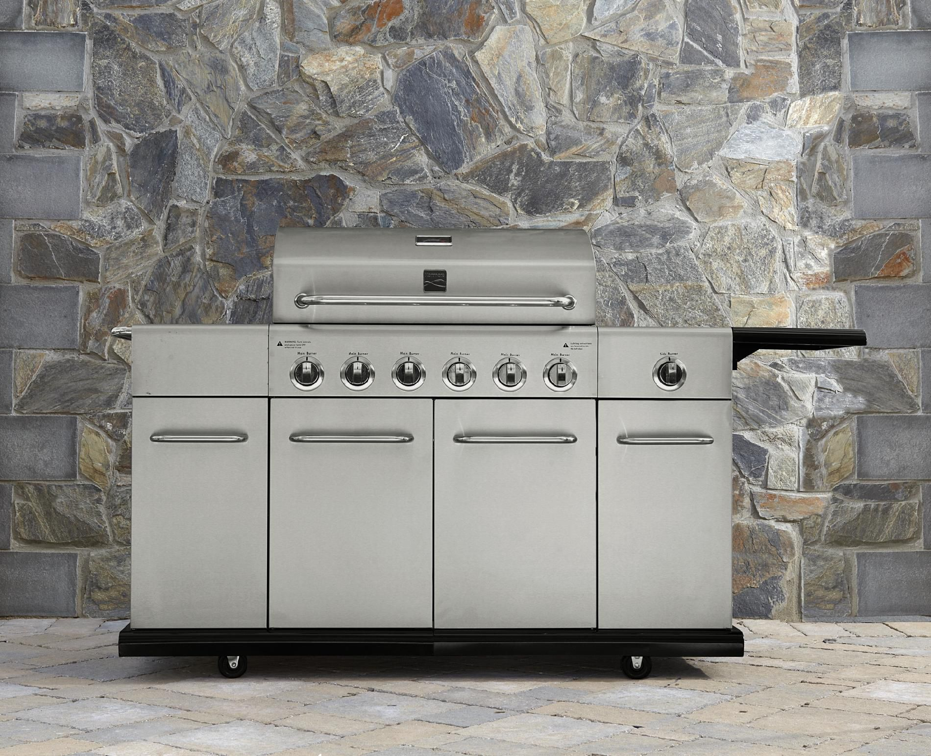 6-Burner-Stainless-Steel-Front-Gas-Grill-With-Storage