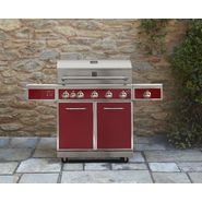 Kenmore 5-Burner Gas Grill with Ceramic Searing and Rotisserie Burners - Red at Sears.com