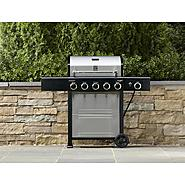 Kenmore 5 Burner LP Gas Grill with Side Burner, Cover, & Accessories Bundle at Sears.com