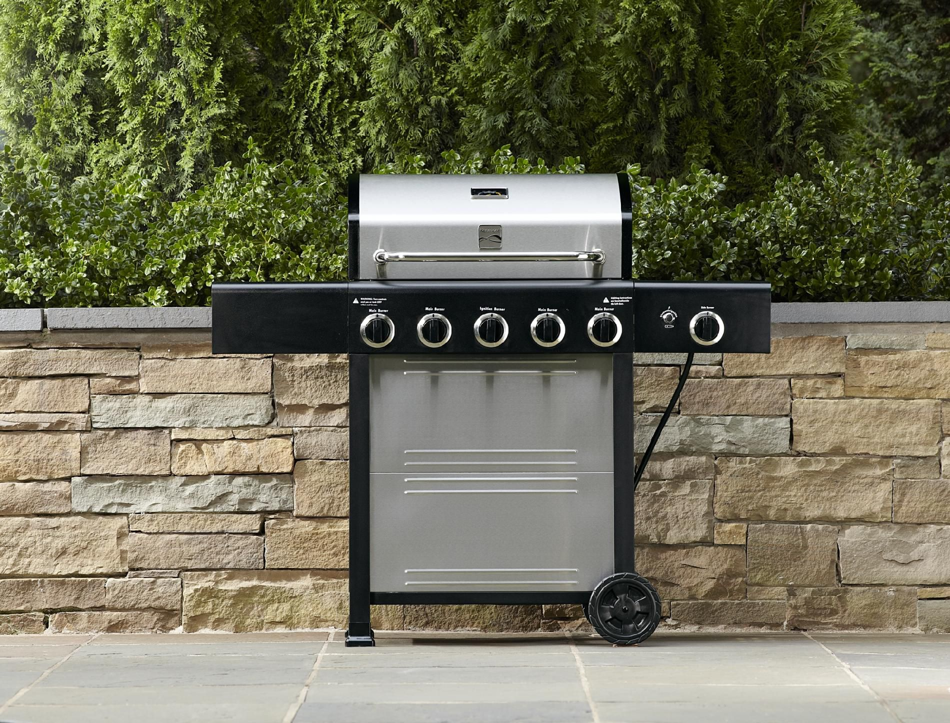 Kenmore  5 Burner LP Gas Grill with Side