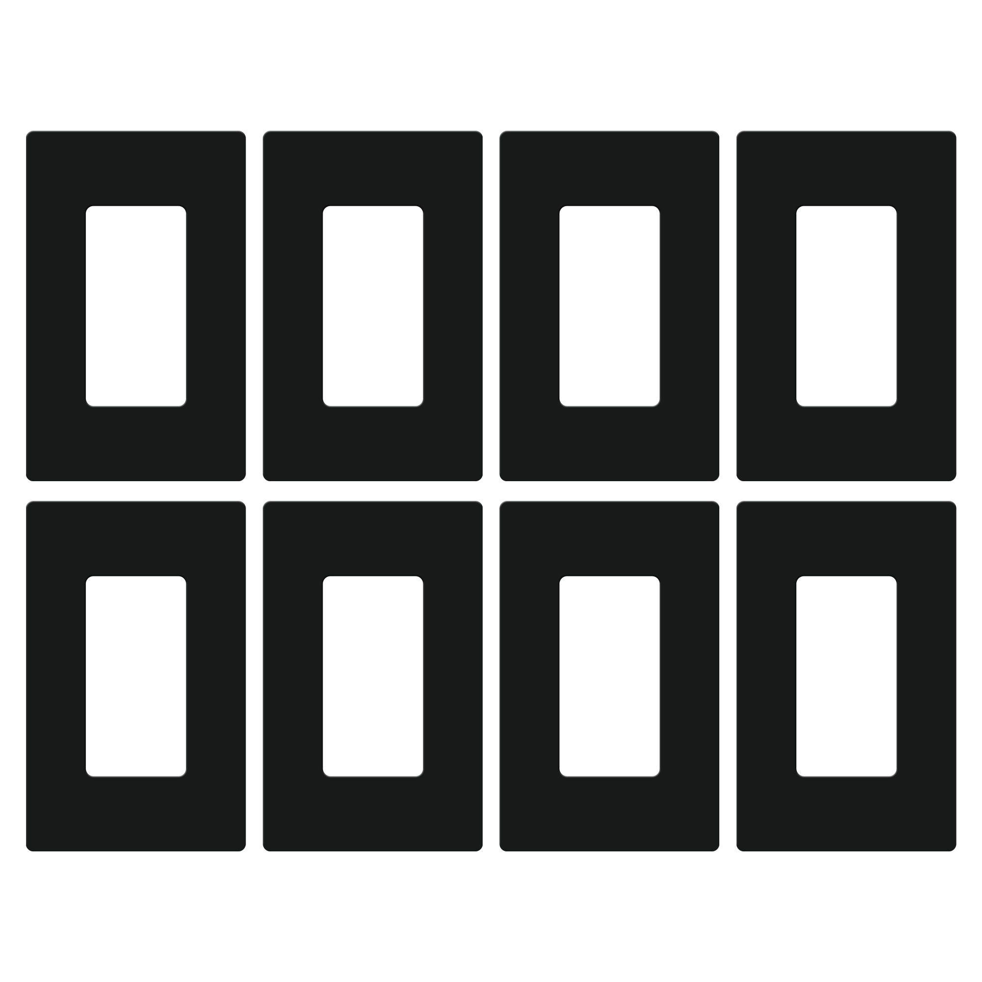 Lutron Set of 8 Claro Wallplates - Black