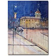Trademark Fine Art Ryan Radke 'Rainy Night in Green Bay' Canvas Art at Kmart.com
