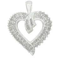 Sterling Silver 1.00cttw Heart Pendant at Kmart.com