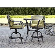 Garden Oasis Bowery 3pc Stamped Back Tall Bistro Set with Swivel Chairs* at Kmart.com