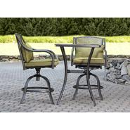 Garden Oasis Bowery 3pc Stamped Back Tall Bistro Set with Swivel Chairs at Kmart.com